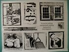 Photo Images w Text Quasi Set PAPERBAG STUDIOS 9 Cling Mounted Rubber Stamps