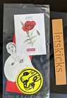 Supreme SS18 Poppy Seed Sticker Pack Rare SHIP NOW
