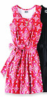 BNWT PREPPY MUD PIE PINK RED GOLD EMORY MOROCCAN TANK RACERBACK BELTED DRESS S
