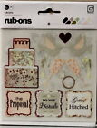 Basic Grey Wedding Sentiments  Icons Rub ons