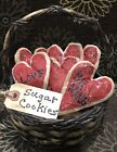Primitive Made *Valentine* Sugar Cookie Bowl Fillers