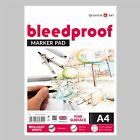 Bleedproof Sketching Drawing Marker Paper Pad - Gummed - 75gsm - 50 Sheets
