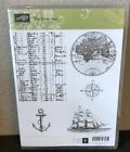 Stampin Up THE OPEN SEA rubber stamp set RETIRED Nautical theme NEVER used