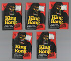 1976 TOPPS KING KONG FACTORY SEALED WAX PACK LOT OF 5 PACKS-CARDS