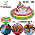 Baby Kids Inflatable Kiddie Swimming Pool Play Center Summer Sunset 58 x 13