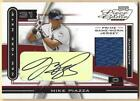 2003 MIKE PIAZZA PLAYOFF PIECE OF THE GAME JERSEY GAME-USED SIGNATURE AUTO #5 5