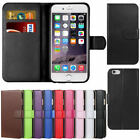 New PU Leather Wallet Case Cover for Apple iPhone X, 4 5 5c 5s 6 6S 6+ 7 7 Plus