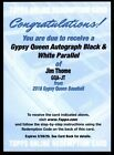 2018 Topps Gypsy Queen Auto Black & White Jim Thome Indians 50 Autograph