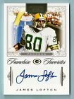 JAMES LOFTON 2012 NATIONAL TREASURES FRANCHISE FAVORITES AUTOGRAPH AUTO 49