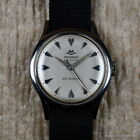 MOVADO 1950s BUMPER AUTOMATIC Ref 11179 35MM FB CASE RADIUM SILVER DIAL STEEL