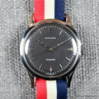 MOVADO 1950s BUMPER AUTOMATIC Ref 16149 35MM FB CASE RADIUM BLACK DIAL STEEL