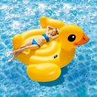 Large Inflatable Pool Floats For Adults Giant Duck Island Water Fun Raft Lounge
