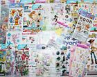 HUGE LOT 23 pkgs Disney Scrapbooking Stickers MickeyBraveFairyPrincess +
