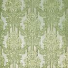 Vintage paper Wallpaper stripes wallcoverings damask lime green gold textured 3D