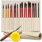 Professional Artist Paint Brush Set of 18 For Body Face Paint Acrylics Oil