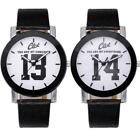 Fashion Unisex Leather Band Men's Womens Quartz Watch Wrist Retro Dial Watches