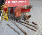 Hilti Breaker/Hammer drill TE 75 110V with Chisel and Drill bits.