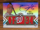2012 BRYCE HARPER AUTO G U JERSEY ROOKIE CARD #d 75 TRIPLE THREADS AUTOGRAPH RC
