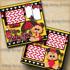 Disney Baby Girl 2 premade scrapbook pages Paper Piecing layout By Digiscrap