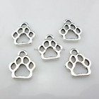 80600pcs Tibetan Silverbronze Dog Cat Paw Print Diy Charms Pendants 11x13mm