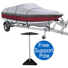 19ft 22ft Trailerable Waterproof 600D Polyester Boat Cover for V Hull Tri Hull