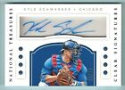 KYLE SCHWARBER 2016 NATIONAL TREASURES CLEAR SIGNATURES AUTOGRAPH AUTO 99