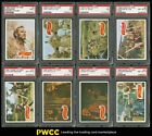 Lot(12) 1969 Planet of the Apes w George Taylor Man V Beast, ALL PSA 7 8 (PWCC)
