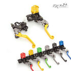 For Suzuki LTZ400/450 250SB RMX250S Brake Master Cylinder Reservoir Levers Set