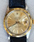 ROLEX 1601 18K GOLD AND STEEL DATEJUST WITH ORIGINAL DOCUMENT NICE!