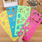 4X PlasticPicture Drawing Template Stencils Ruler Painting DIY Kids Easter GiftW