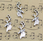 Jewelry Making Diy Deer Head Alloy Charms Pendant 25x11mm