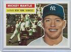 1996 Topps Baseball Mickey Mantle Chip Toppers 1956 Topps Reprint Card # 6