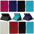 """Luxury PU Leather  Tablet Case Cover For Various 7"""" Android Table + Free Stylus"""