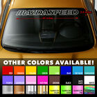 Mazda Mazdaspeed Windshield Banner Vinyl Heat Resisted Decal Sticker 40x3.6