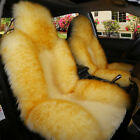Genuine Australian Soft Sheepskin Fur Car 1 Front Seat Cover Winter Universal
