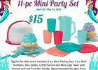 Tupperware 11 PC Mini Party Set for Kids 3 + Great Set for Kids like Mini Party