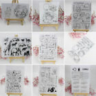 DIY Transparent Clear Silicone Rubber Stamp Cling Diary Scrapbooking Card Decor
