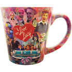 NEW I Love Lucy Bold  Bright Collage Latte Styled Ceramic Mug Holds 12 Ounce