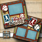 Baseball Love The Game premade scrapbook pages paper piecing Boy Digiscrap A0075