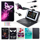 US For LG G Pad F 8.0 V495 AT&TTablet Leather Keyboard Case Cover Luxury