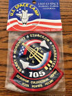 Official NASA Space Shuttle Discovery STS 105 Mission Embroidered Patch Sealed