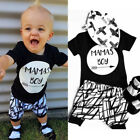 US Stock Toddler Kids Baby Boy T shirt Tops+Shorts Summer Outfits Clothes Set