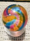 Hot House Glass 1 1 4 Banded Mica Swirl Art Glass Marble