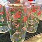 MCM Federal Glass Forget-Me-Not  Pitcher and Tumbler Set-Vtg. Rare! Floral