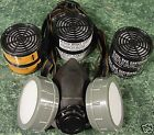 DUAL CARTRIDGE RESPIRATOR face DUST MASK with 6 Filters New twin