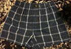 US Polo Assn Woven Boxers Blue With Pony Cotton Polyester M NWOT