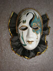 Clay Art Porcelain Ceramic 5 Mask Face Wall Decor Hand Decorated Ruffle