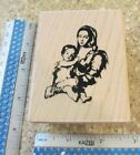 ART BRUSH MARY  JESUS MW RUBBER STAMP PAPER INSPIRATIONS