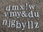 Misc Letters Chipboard Cloth Multi Sizes White Tan Brown Colorful