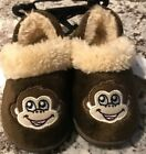 NWT TODDLER BOY MONKEY ALINE SLIPPERS SIZES SMALL MEDIUM AND LARGE